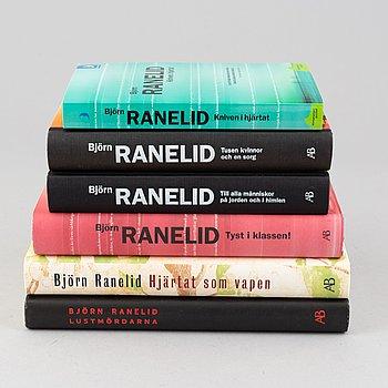 Björn Ranelid, books, 6 pcs, signed.
