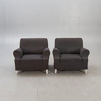 Philippe Starck, fåtöljer ett par Lazy Working chair sent 1900-tal.