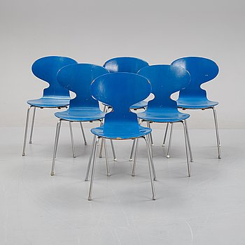 A set of six 'Ant' chairs by Arne Jacobsen for Fritz Hansen dated 1967.