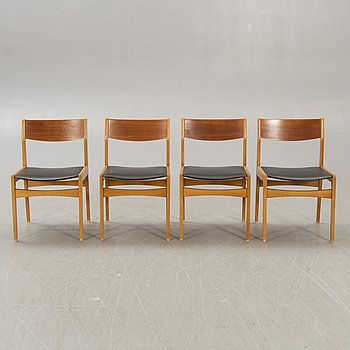 A set of four Poul Volther chairs Denmarek 1960/70s.