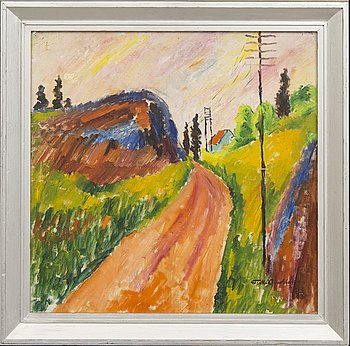Folke Andréasson, a signed oil on relined canvas.