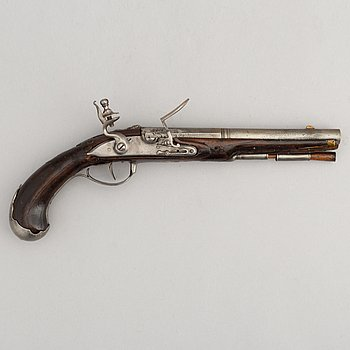 A Flintlock pistol, second half of the 18th Century.