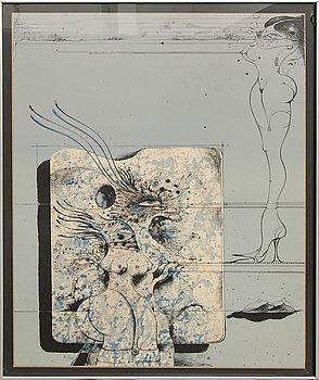 Ardy Strüwer, color lithograph, signed, numbered 30/150.
