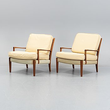 Arne Norell, a pair of 'Löven' armchairs, designed around the year 1964.