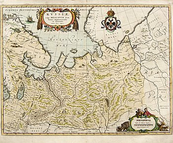 Jan Blaeu, map Russia, Amsterdam 1640.