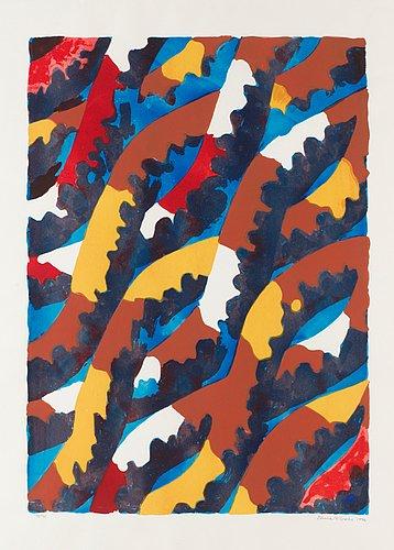 Lennart rodhe, komposition med blad.