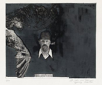 2. JOHN-E FRANZÉN, Self portrait.