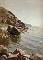PEDER MORK MÖNSTED, By the coast at Bornhol...