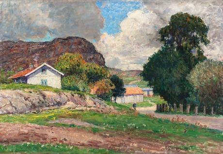Anton genberg, summer landscape.