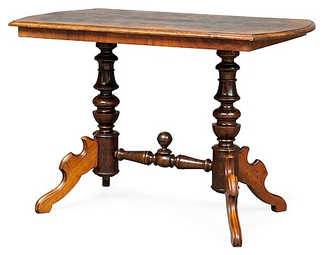 A late 19th century table, marked with the monogram of the swedish king gustav vi adolf (1882-1973).