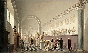 """241. PEHR HILLESTRÖM, """"Museum på Kongl. Slottet""""."""