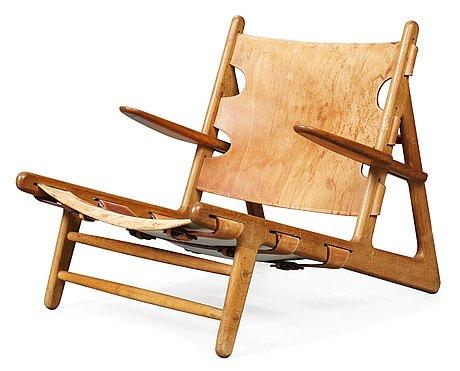 "A borge mogensen ""hunting chair"" by erhard ramussen, copenhagen 1950-60's."