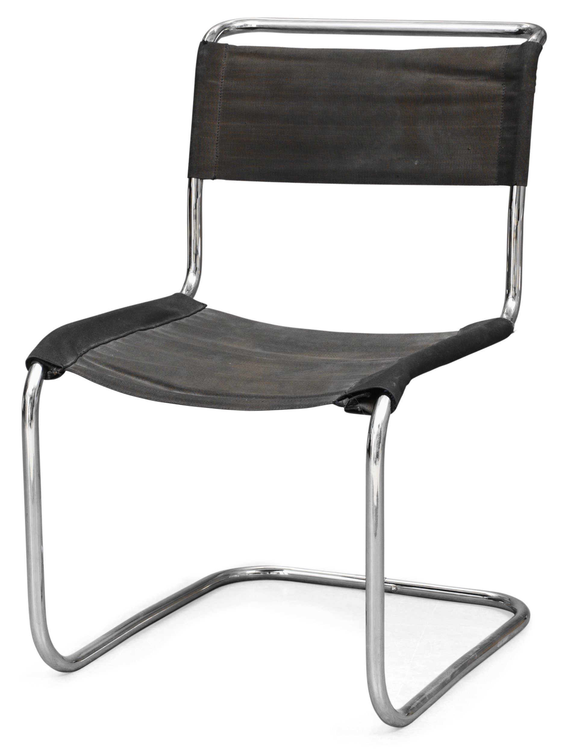 "a marcel breuer chrome plated ""b33"" chair, probably by gebrüder"