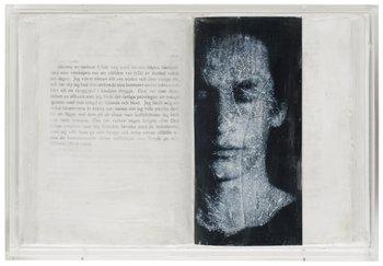 "8. HELEN BROMS SANDBERG, ""Bok utan titel, 365 sidor"" (text: Jean Genet ur Tjurens dagbok)."