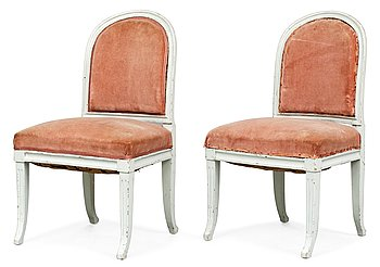 4. A pair of late Gustavian chairs.