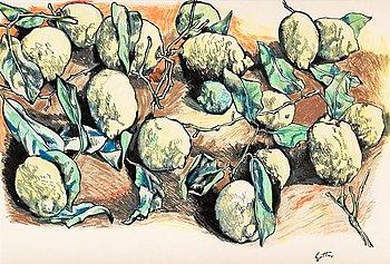 14. Renato Guttuso, Still life with lemons.