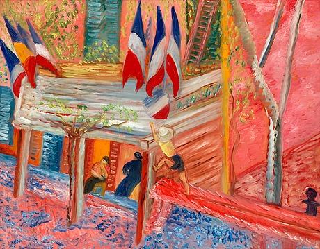 Sigrid hjertén, vid torget i cassis, den 14 juli.