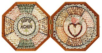 1124. A sailors' shell valentine, West Indies, late 19th century.