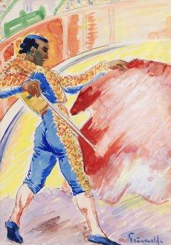 1. ISAAC GRÜNEWALD, Matador med rött skynke.