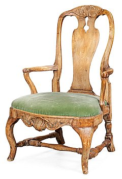 5. A Swedish Rococo armchair.