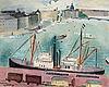Einar jolin, stadsgården med utsikt över strömmen och skeppsbron.