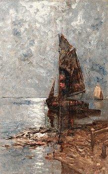 7. WILHELM VON GEGERFELT, Ships in moonlight.