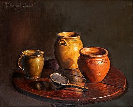 Johnny oppenheimer, still life with jars.