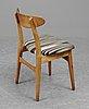 A set of six hans j wegner ch-30 oak and teak chairs by carl hansen, denmark.