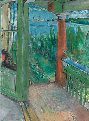 Fritiof schüldt, utsikt från blå salongen, smedsudden.