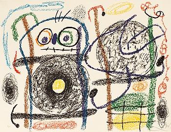 """405. JOAN MIRÓ, """"Album 21"""" (Poème de Carlos Franqui)."""