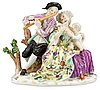 A meissen figuregroup, first half of the 20th cent.