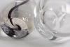 Vaser, 2 st. glas. wärff och vicke lindstrand, kosta.