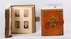 Fotografialbum, 2 st, skinnpärmar, sent 1800-tal.
