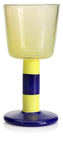 "A gunnar cyrén glass goblet, ""popglas"", orrefors."