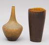 Vaser, 2 st. stengods. gunnar nylund.