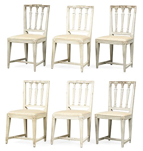 Six late gustavian chairs.