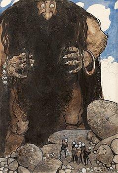 "12. John Bauer, ""Stormjätten, jordskakaren""."