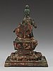 A bronze figure of buddha, qing dynasty.