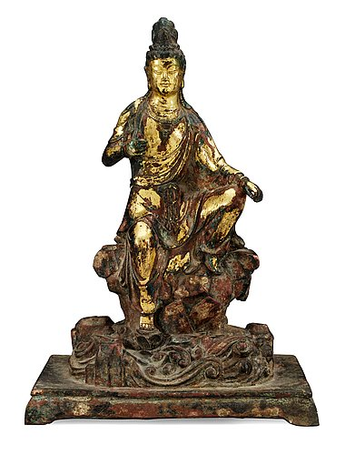 A bronze figure of buddha, qing dynasty.