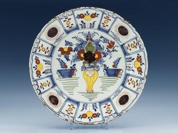 1398. A Delft faience dish, 18th Century.