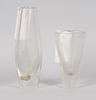 Vaser, 2 st, glas, orrefors, 1950-60-tal.