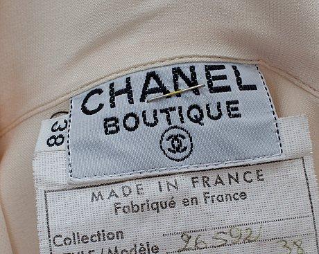 A chanel silk blouse.