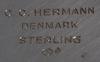 "BÄgare, sterling silver, sk ""margaretabägare"". cc hermann, danmark."