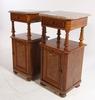 Nattduksbord, ett par.  nyrenässans 1800-talets slut.