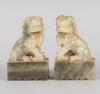 Figuriner, ett par, soapstone, 1900-tal.