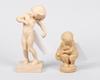 Figuriner, 2 st, oglaserad keramik, danmark, kai nielsen, sign.