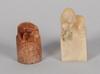 Parti miniatyrer samt snusflaska, 8 delar, sten, porslin, sydostasien, 1900-tal.