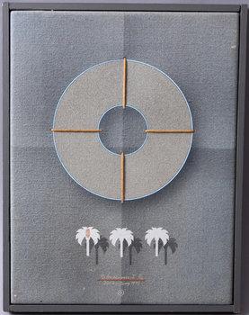 BECK & JUNG, blandteknik på duk, sign, dat 1977 samt numr 2/6.