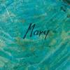 """Skulptur, papier maché. sign undertill """"mary""""."""