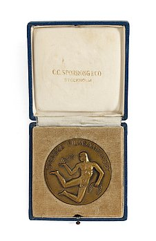 A BRONZE MEDAL,  The Swedish Film Socitey Plaque 1956-57.